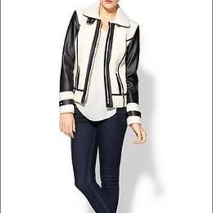 💕NWT💕TINLEY ROAD FAUX LEATHER AND WOOL JACKET
